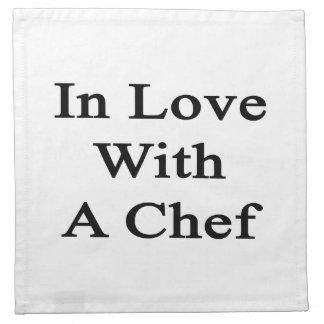 En amor con un cocinero servilletas de papel