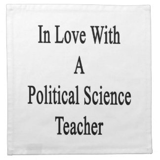 En amor con un profesor de ciencias político servilleta imprimida