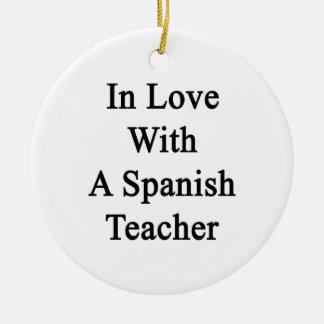 En amor con un profesor español ornaments para arbol de navidad