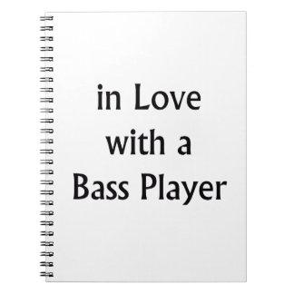 En amor con un texto del negro del bajista libretas