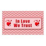 En amor confiamos en tarjetas de visita