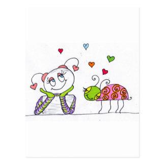 En amor tarjetas postales