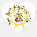En amor usted es mi sol calcomanías corazones personalizadas