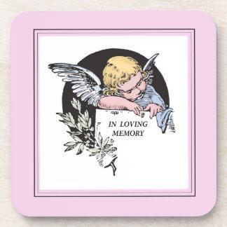 En ángel cariñoso del vintage de la memoria, conme posavaso