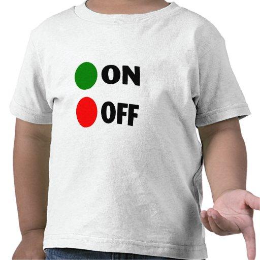 En apagado camiseta