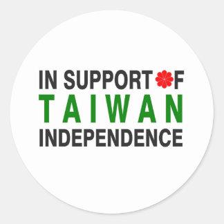 En apoyo de la independencia de Taiwán Pegatina Redonda