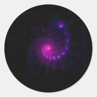 """""""En arte del fractal del marco"""" Pegatina Redonda"""