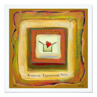 """En arte esperanzado hermoso de la aceptación de la invitación 5.25"""" x 5.25"""""""