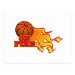 en baloncesto del fuego postal