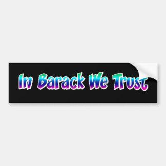 En Barack confiamos en Etiqueta De Parachoque
