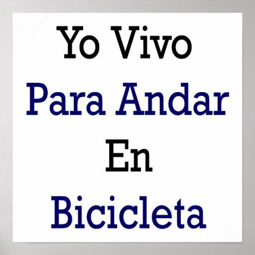 En Bicicleta de Yo Vivo Para Andar Posters