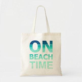 En bolso de la tipografía del tiempo de la playa