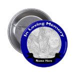 En botón de memoria/azul cariñosos