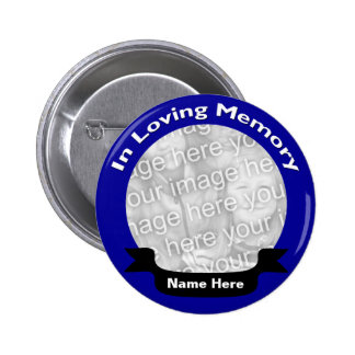 En botón de memoria/azul cariñosos pin redondo de 2 pulgadas