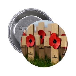 En botón del día de la conmemoración de la conmemo pin redondo de 2 pulgadas