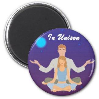 En botón del unísono imán redondo 5 cm
