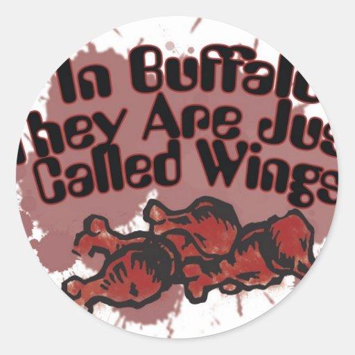 En búfalo apenas se llaman las alas pegatina redonda