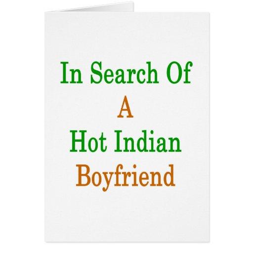 En busca de un novio indio caliente tarjeta de felicitación