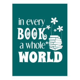 En cada libro un mundo entero postal
