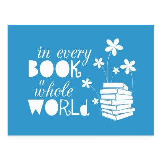 En cada libro un mundo entero postales