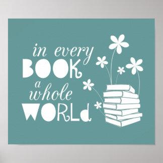 En cada libro un mundo entero póster