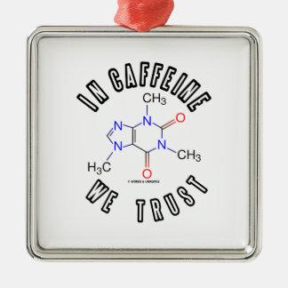 En cafeína confiamos en (la molécula del cafeína) adorno