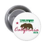 En California de Hecha Pin Redondo De 2 Pulgadas