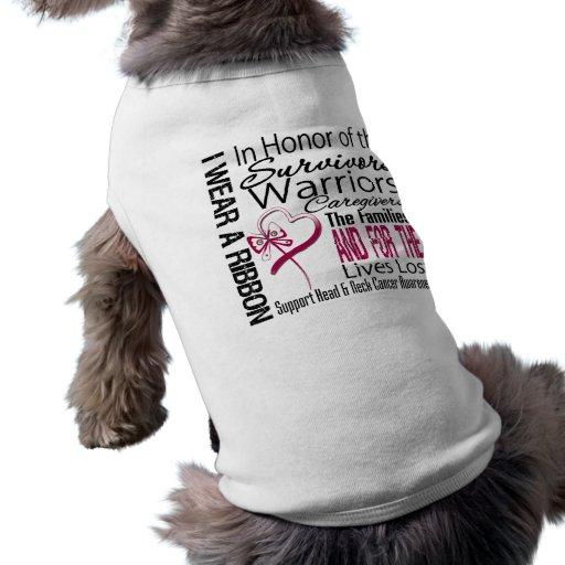 En cáncer de cabeza y cuello del collage del tribu ropa para mascota