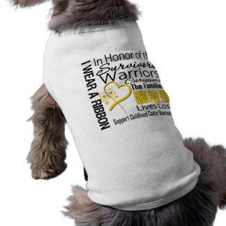 En cáncer de la niñez del collage del tributo del  ropa de mascota