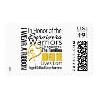 En cáncer de la niñez del collage del tributo del sello