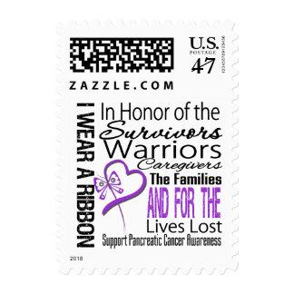 En cáncer pancreático del collage del honor estampilla