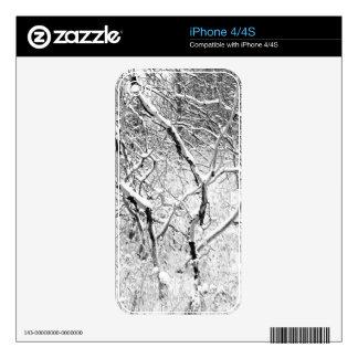 en casa en nieve skin para el iPhone 4
