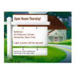 En casa postal de las propiedades inmobiliarias