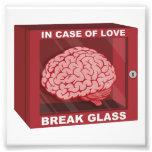 En caso de amor, rompa el vidrio y utilice el cere impresion fotografica