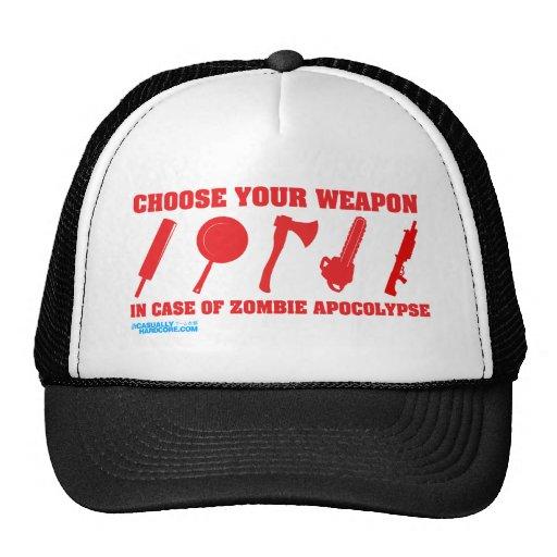 En caso de apocalipsis del zombi gorras de camionero