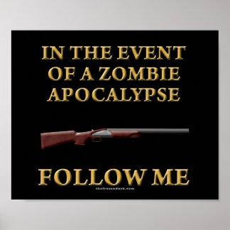 En caso de apocalipsis del zombi posters