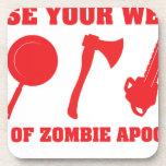 En caso de apocalipsis del zombi posavasos de bebidas