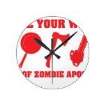 En caso de apocalipsis del zombi reloj de pared