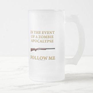 En caso de apocalipsis del zombi taza de cristal