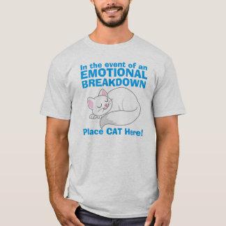 En caso de camiseta del gato de la avería