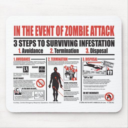 En caso de COJÍN de RATÓN del ataque del zombi Alfombrilla De Raton