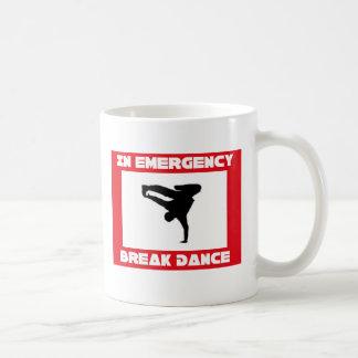 En caso de danza de rotura del emerency tazas