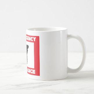 En caso de danza de rotura del emerency tazas de café