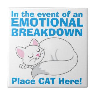En caso de gato del lugar de la AVERÍA EMOCIONAL Azulejo Cuadrado Pequeño