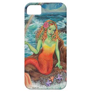 """""""En caso de IPhone de la sirena de las rocas"""" de Funda Para iPhone 5 Barely There"""