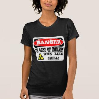 ¡En caso de los zombis funcionados con mucho! Camiseta