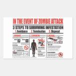 En caso de PEGATINAS del ataque del zombi Rectangular Pegatina