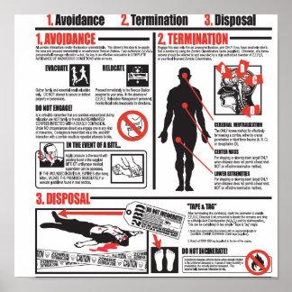 En caso de poster del ataque del zombi