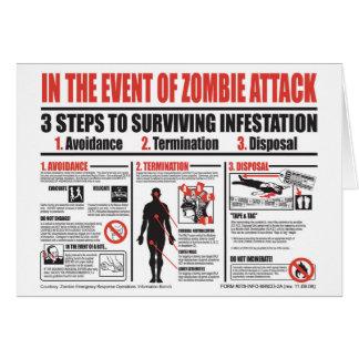 En caso de TARJETA de NOTA del ataque del zombi