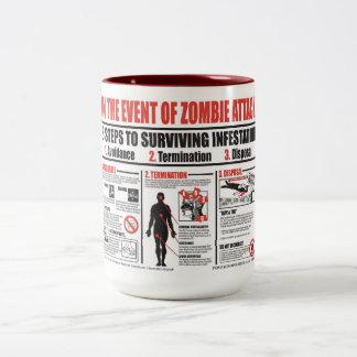 En caso de TAZA de CAFÉ del ataque del zombi